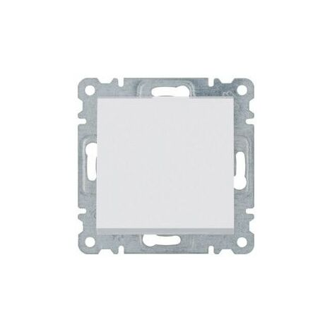 Conmutador cruzamiento Hager Lumina Intense WL0030 color Blanco