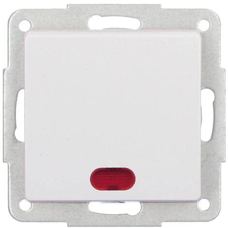 Conmutador de cruzamiento de empotrar Blanco 56x56mm