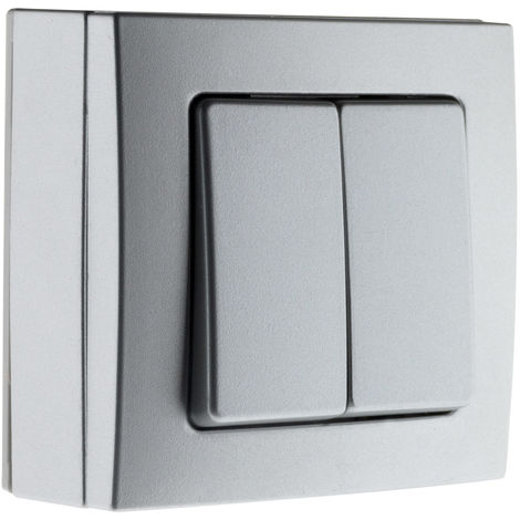 Conmutador de superficie doble Silver - Bel'Vue