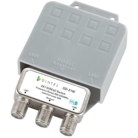 Conmutador Diseqc 2x1 de 950-2400 MHz Exterior Dintel
