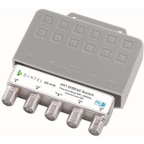 Conmutador Diseqc 4x1 de 950-2400 MHz Exterior Dintel