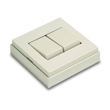 Conmutador doble 65x65x19 10a-250v sup. pvc bl 5003-b famat