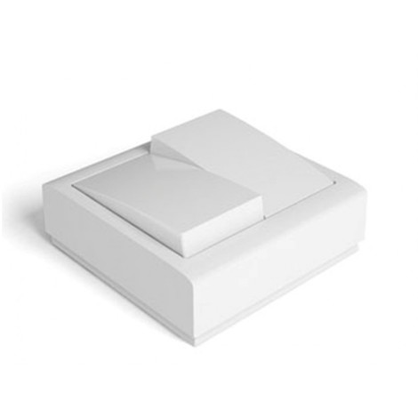 Conmutador doble 72x72x28 10a-250v sup. abs bl 8003 famat
