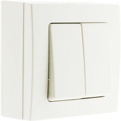 Conmutador doble blanco - Bel'Vue