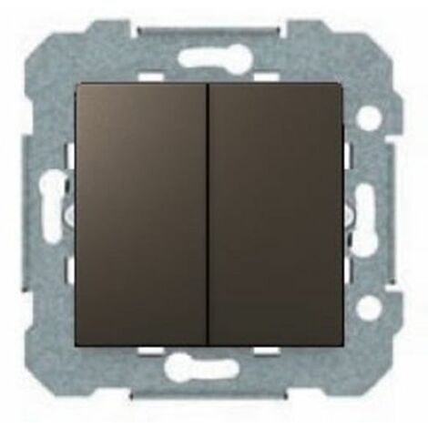 Conmutador doble Gris Lava BJC Viva 23510-GL