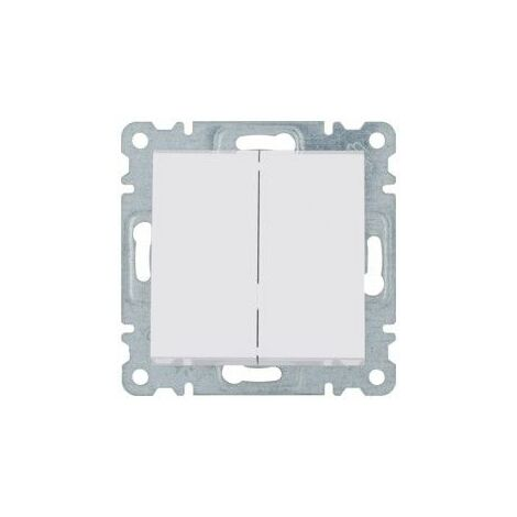Conmutador doble Hager Lumina Intense WL0050 color Blanco