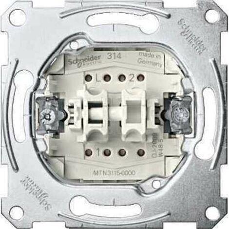 Conmutador doble Schneider MTN3126-0000