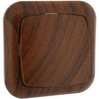 Conmutador empotrable madera (Electro DH 36.530/C/MD)