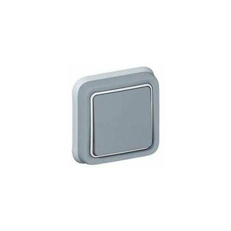 Conmutador estanco gris Legrand Plexo empotrar 069811