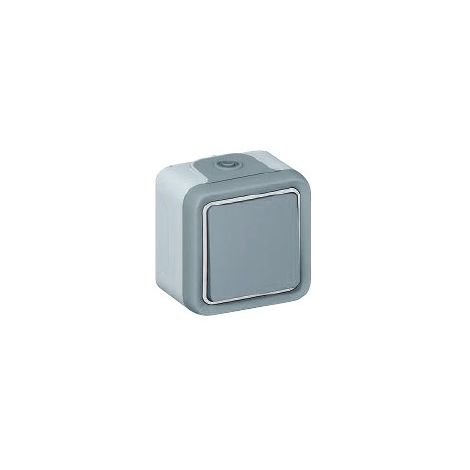 Conmutador estanco gris Legrand Plexo superficie 069711