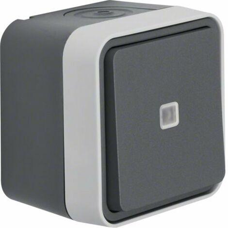 Conmutador luminoso Monobloc de superficie estanco HAGER Cubyko WNC002 IP55
