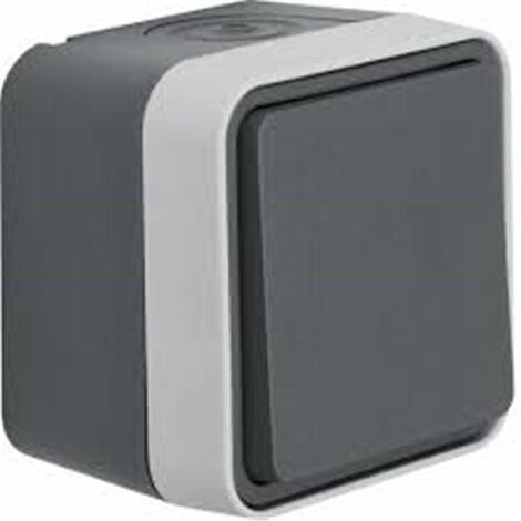 Conmutador Monobloc de superficie estanco HAGER Cubyko WNC001 IP55