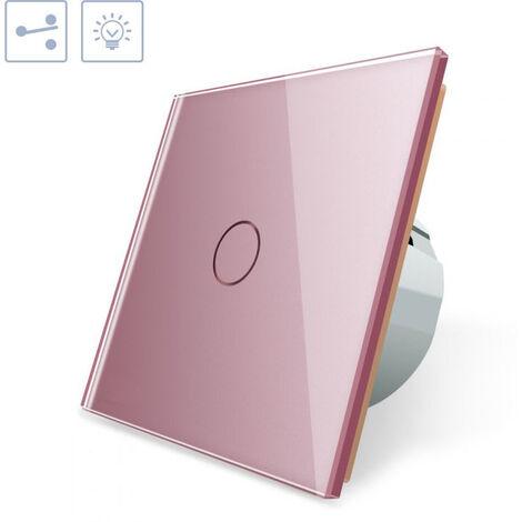 Conmutador táctil, frontal rosa