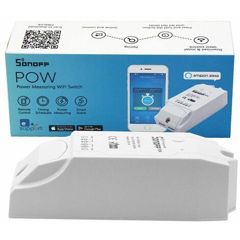 Conmutador WiFi Sonoff Pow con función de medición de consumo de energía