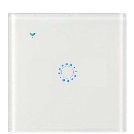 Conmutadores inalambricos, interruptor de conexion Wi-Fi Luz, 1 Gang, blancos
