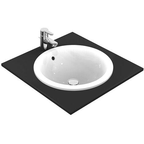 CONNECT Connect lavabo à encastrer sans trou, rond 380 x 165 x 380 mm, blanc (E505101)