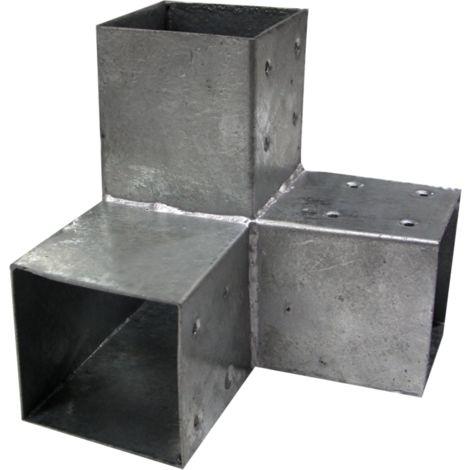 Connecteur 3D angles 90° pour poteau 9X9 cm