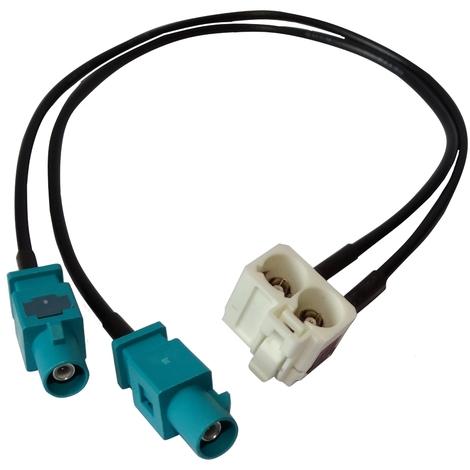 Connecteur adaptateur fiche prise antenne FAKRA MFD2 RCD300 RNS-510 RNS2