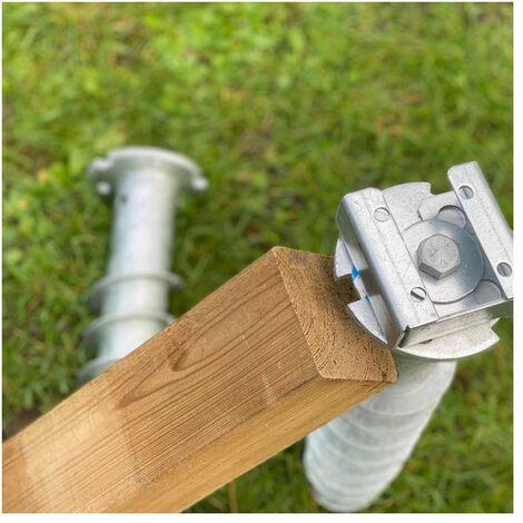 Connecteur bois en acier galvanisé à partir de 140 mm