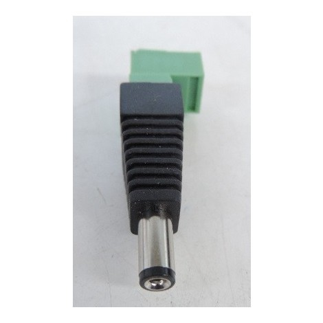 Connecteur d'alimentation jack avec bornier à vis débrochable pour raccorder l'alimentation 12V sur une caméra BTICINO 391889