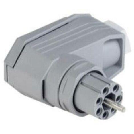 Connecteur dalimentation série (connecteur réseau) N Hirschmann N6R FF R 931 553-106-1 femelle, coudé Nbr total de pôle