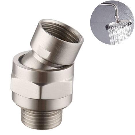 Connecteur de douche Rotule de pomme de douche Adaptateur de boule pivotante Extension de bras de douche réglable Composant universel Nickel brossé