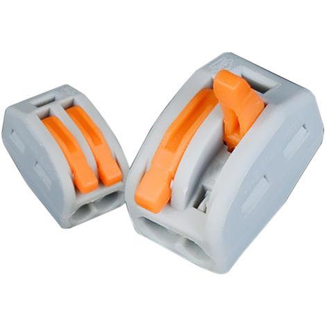 Connecteur De Fil Rapide, 2 Voies, 10Pcs