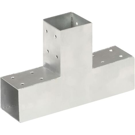 Connecteur de poteau Forme en T Métal galvanisé 71x71 mm
