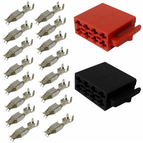 Connecteur fiche ISO 16PIN faisceau universel alimentation+son haut parleurs enceintes à sertir