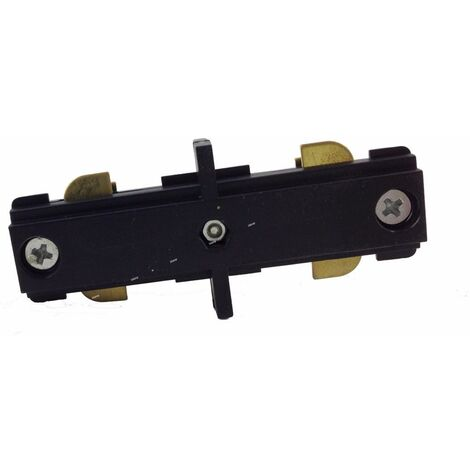 Connecteur LED Droit pour Rail Monophasé NOIR - Noir - SILAMP