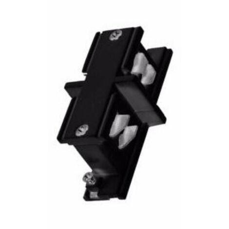 Connecteur LED Droit pour Rail Triphasé NOIR - Noir - SILAMP