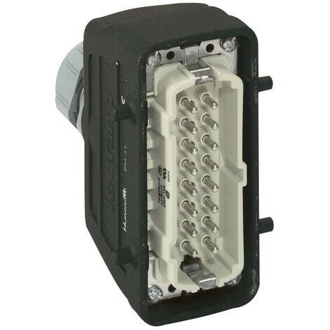 Connecteur multipôles capot mâle sortie verticale métal Hypra 16A 500V 16P+T (052644)