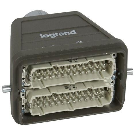 Connecteur multipôles capot mâle sortie verticale métal Hypra 16A 500V 48P+T (052648)
