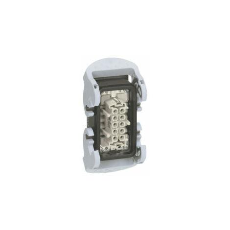 Connecteur multipôles embase femelle encastrée avec verrouillage métal Hypra 16A 500V 10P+T - 052653 - Legrand