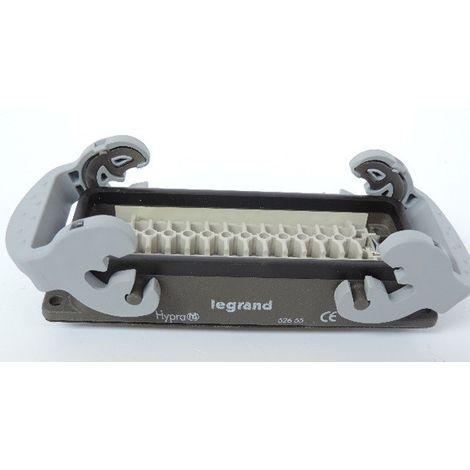 Connecteur multipôles embase femelle encastrée avec verrouillage métal Hypra 16A 500V 24P+T LEGRAND 052655