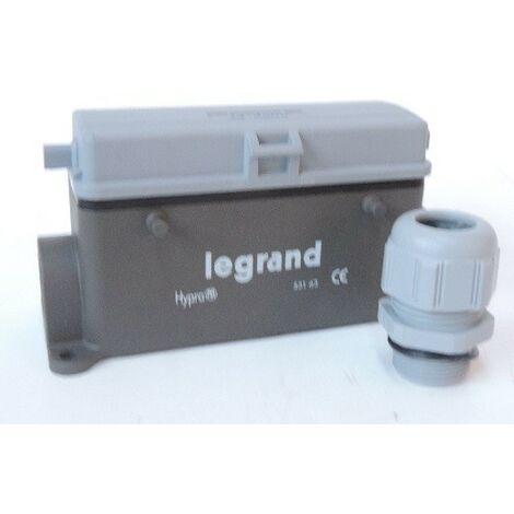 Connecteur multipôles embase femelle saillie volet métal Hypra 16A 500V 24P+T LEGRAND 053163