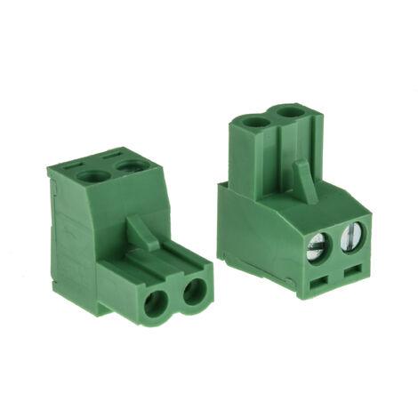 Connecteur pour CI Bornier pour CI, RS PRO, pas 5.08mm, 2 Contacts, Angle droit, Montage sur CI, Ressort type Cage
