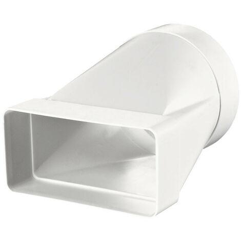 Connecteur rectangle/rond - 55x110mm / Ø100 - Winflex Ventilation