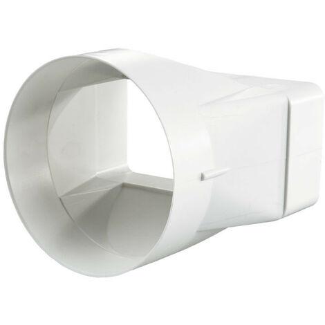 Connecteur rectangle/rond symétrique - 60x122mm / Ø100 - Winflex Ventilation