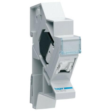 Connecteur RJ45 catégorie 5e pour Grade 1 + support modulaire (TN001S)