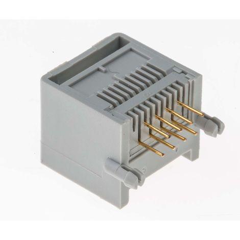"""main image of """"Connecteur RJ45 Femelle RS PRO, Montage panneau Droit 1 ports , Blindé GTC Sealed série GTC Sealed"""""""