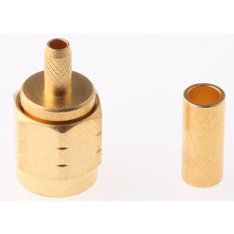Connecteur SMA Mâle Droit Subminiature 50Ω Montage sur câble, A sertir 335 V RG174, RG316/U