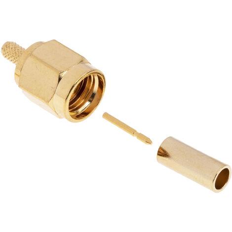 Connecteur SMA Mâle Droit Subminiature 50Ω Montage sur câble, A sertir RG174U