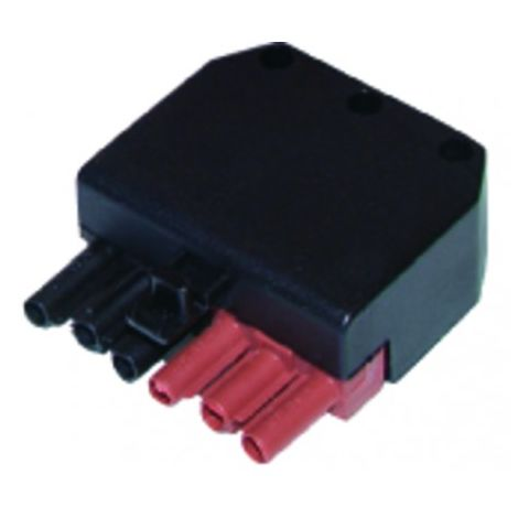 Connector female 6 poles