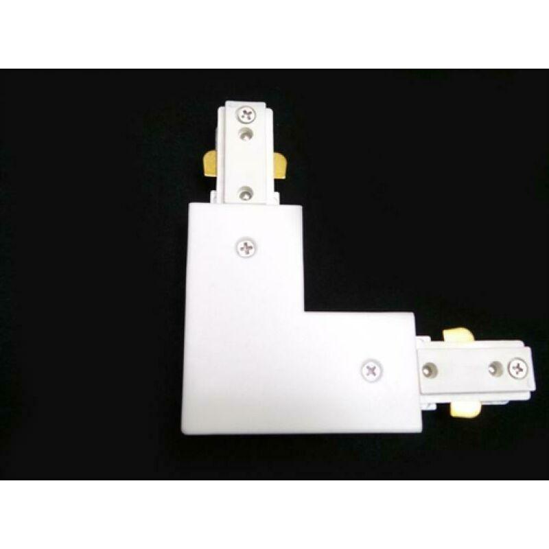 Vivalamp - Connettore bianco angolare 90 gradi a l per binario monofase led kit 5 pezzi