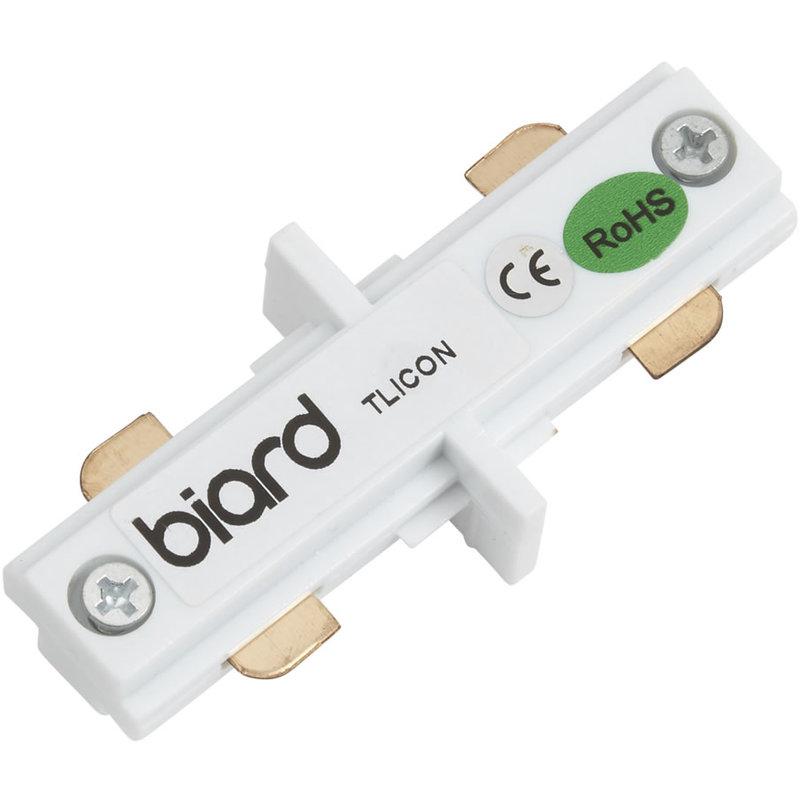 Biard - Connettore Dritto per Sistema su Binario Bianco