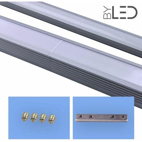 Connexion droite pour profilé LED - encastrable