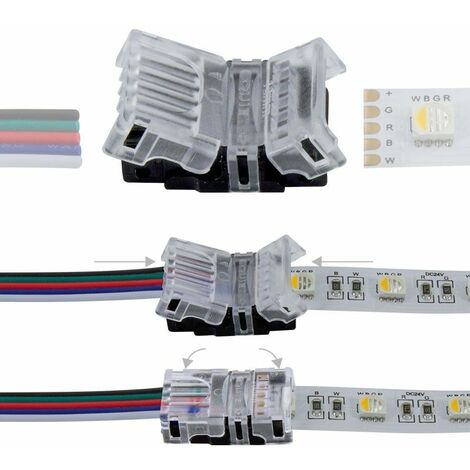Connexion rapide 5 pôles - Pour ruban LED RGBW IP20 - 12mm
