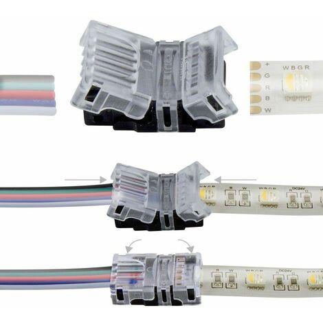 Connexion rapide 5 pôles - Pour ruban LED RGBW IP65 - 12mm