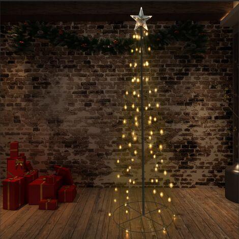Cono árbol de Navidad de 140 LED interior y exterior 72x240 cm